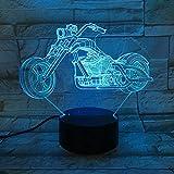 Type de Moto de Nuit Changeante lumière Grande Roue Conception de Moto de Course