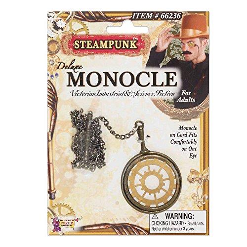 Bristol Novelty BA749 Steampunk Monokel, Men, Mehrfarbig, Einheitsgröße