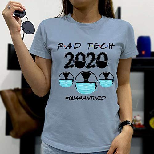 Rat Tech 2020 Quarantined Social Distancing Pandemic Friends Funny Gift T-Shirt (Ligh Blue/T-Shirt / 2XL)
