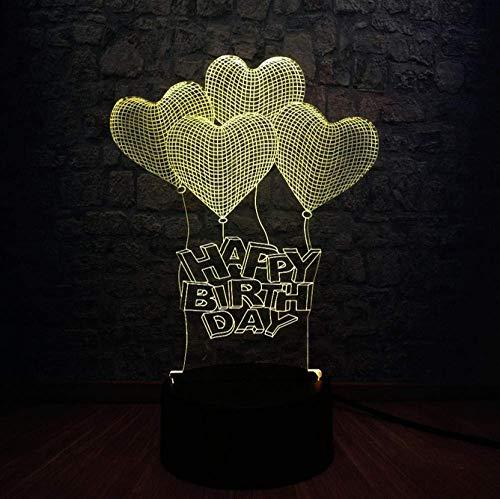 Nachtlampje groothandel Liefdeshart 3D LED luchtballon lamp USB voorstel bruiloft decoratie huis bruiloft gadget geschenk kleurrijk