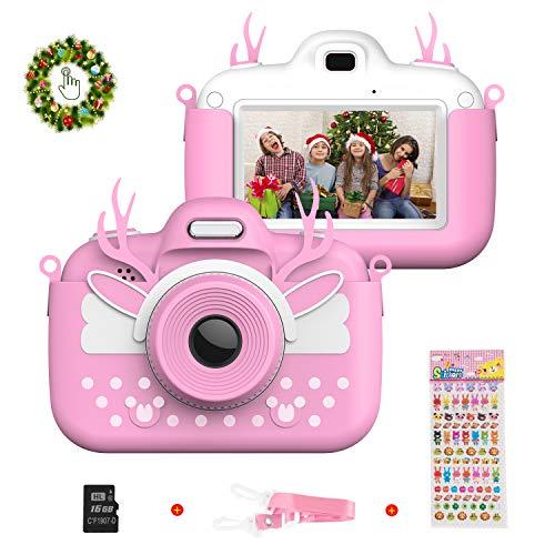 Vannico Camara de Fotos para Niños, Cámara para Niños de Fotos Mini Cámara Digital con Tarjeta TF 16gb Niños de 3 a 10 Años (Rosa)