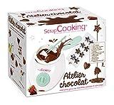scrapcooking - atelier chocolat - appareil fondue à chocolat avec accessoires - coffret 33 éléments