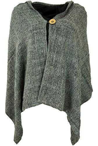 Guru-Shop Ponchoschal, Poncho, Cape Schal, Damen, Grau, Synthetisch, Size:40, Jacken, Mäntel & Ponchos Alternative Bekleidung