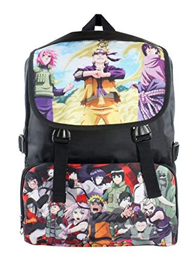 WANHONGYUE Naruto Anime Bolso de Escuela Mochila de Impresión de Imagen HD Bolsa de Estudiante Backpack