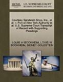Courtesy Sandwich Shop, Inc., et al. v. Port of New York Authority et al. U.S. Supreme Court Transcript of Record with Supporting Pleadings