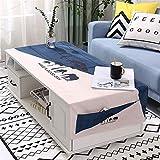 QWEASDZX Mantel Simple y Moderno Algodón y Lino Impresión Digital Mantel a...
