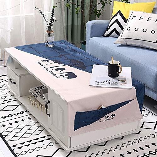 QWEASDZX Mantel Simple y Moderno Algodón y Lino Impresión Digital Mantel a Prueba de Polvo a Prueba de Agua Mantel Rectangular Cubierta de Tabla Mantel Multiuso 70x180cm