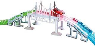 Pont Magic Tracks | Idéal pour les circuits de course enfants | Accessoires de voiture pour circuit | Petite voiture 3 ans...