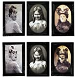 Halloween Decoration 3D Changing Face Moving Picture Frame Portrait Horror Decoration for Horror Party Castle House Home Decoration (3 Pcs)