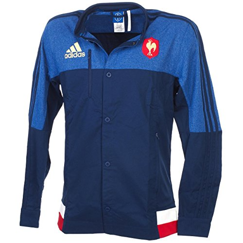 adidas Herren French Rugby Team 2015 Anthem S07496 Jacke, Navy/Blue/Red/White, S