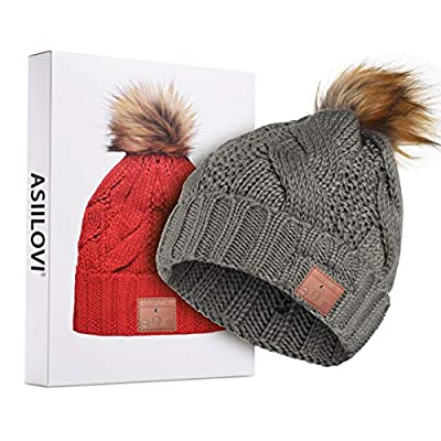 ASIILOVI Bluetooth Beanie, Bluetooth 5.0 Wirele...