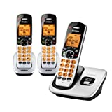 D1760-3 DECT 6.0 Expandable Cordless Phone with Caller ID, Silver, 3...