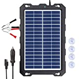 POWOXI 7.5W-Solar-Battery-Trickle-Charger-Maintainer -12V Portable Waterproof Solar Panel Trickle Charging Kit for Car, Automotive, Motorcycle, Boat, Marine, RV, Trailer, Powersports, Snowmobile, etc.
