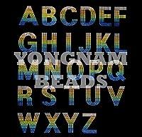 【アルファベット】 スパンコールモチーフ 【G】 アイロン接着可 ロゴに最適のおおきめサイズ ご希望の文字を色選択よりお選びください。