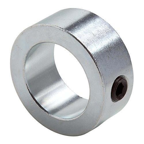 """Climax Metal C-100 Shaft Collar, Zinc Plated Steel, Set Screw Style, One Piece, 1"""" Bore, 1-1/2"""" OD, 5/8"""" Wide, With 5/16-18 Set Screw"""
