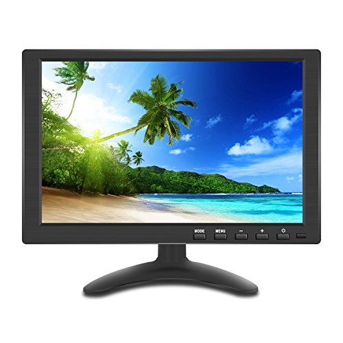 10.1インチ 液晶 小型 モニター IPS 1280*800 全視野 高画質 サブ ディスプレイ HDMI USB VGA BNC AV 多様接続 日本語メニュー スピーカ内蔵 モバイル モニター