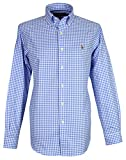 Ralph Lauren -  Camicia Casual - Vestito Modellante - Button-Down - Manica Lunga - Uomo Blue Large