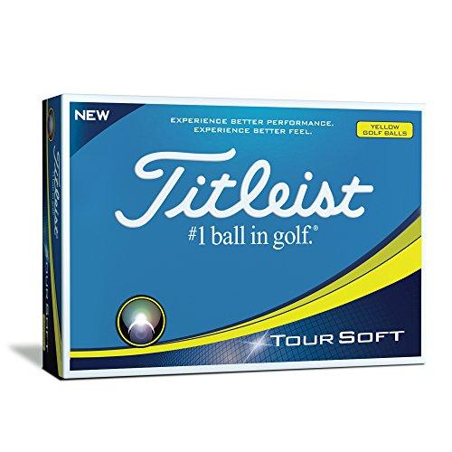 Titleist Tour Soft Bolas Golf, Amarillo, Talla Única