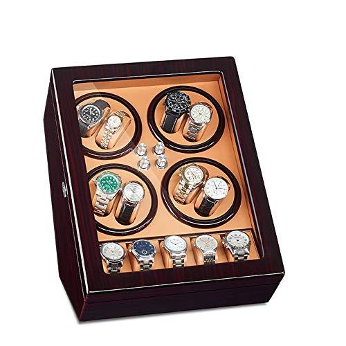 Zatnec Caja Giratorias para 8 Relojes Automáticos con 5 Espacios De Almacenamiento Incorporados Illuminación LED Ultra-Silencio 5 Ajuste del Modo De Rotación (Color : F)