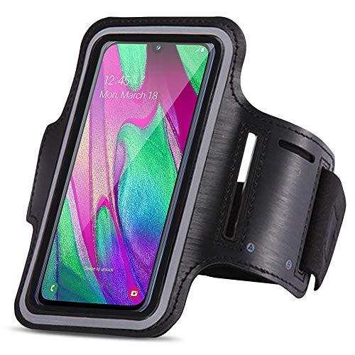 UC-Express - Fascia da braccio sportiva compatibile con Samsung Galaxy A40, per jogging, sport, custodia