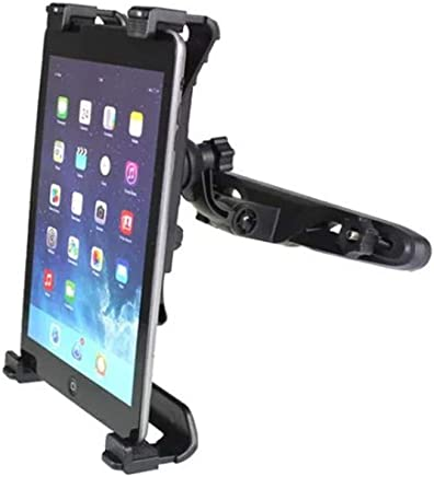 "Tablet Holder Car Headrest Holder Car Headrest Mount 360°Rotation Cradle Bracket Compatible with iPad Samsung Kindle and Others 7""-10"" Tablet Black by TECHCHTE"