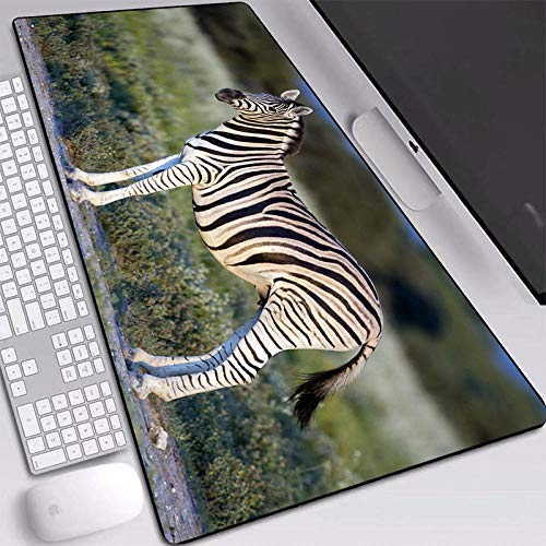 Rubber Mousepads Mouse Pad Large Animal Zebra Photo Mice Mats Computer Pc Laptop Mause Pad Computer Mats For Child-400X900X3Mm