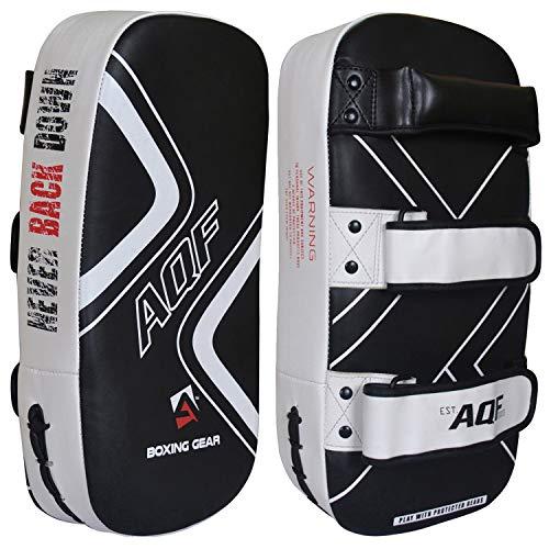 AQF Almohadilla para Brazo Curvada para Golpes para Kick Boxing Tailandés MMA...