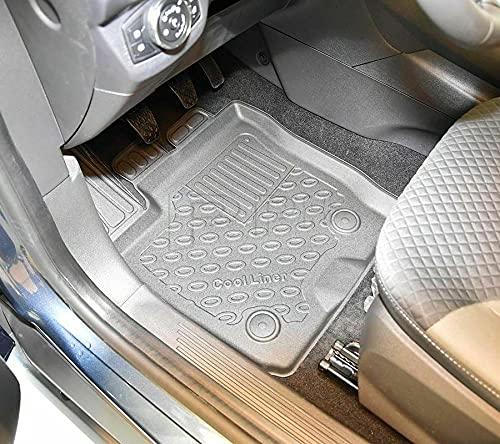 Alfombrillas de goma premium 3D para Ford Tourneo Courier + Facelift 07/2018 a partir de 06/2014 en adelante, 5 plazas.