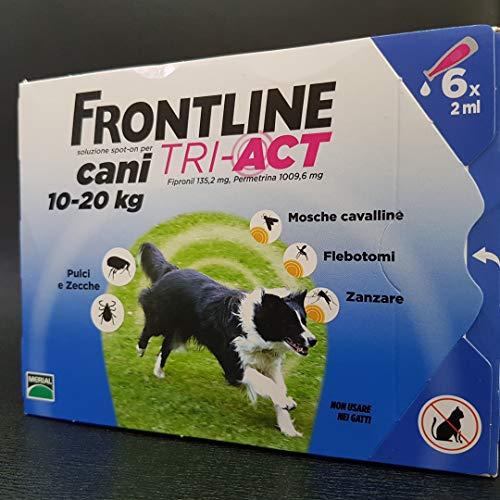 Merial - Frontline Tri-Act Antiparasitario Externo - 362 - 10-20 Kg. 6 Pipetas
