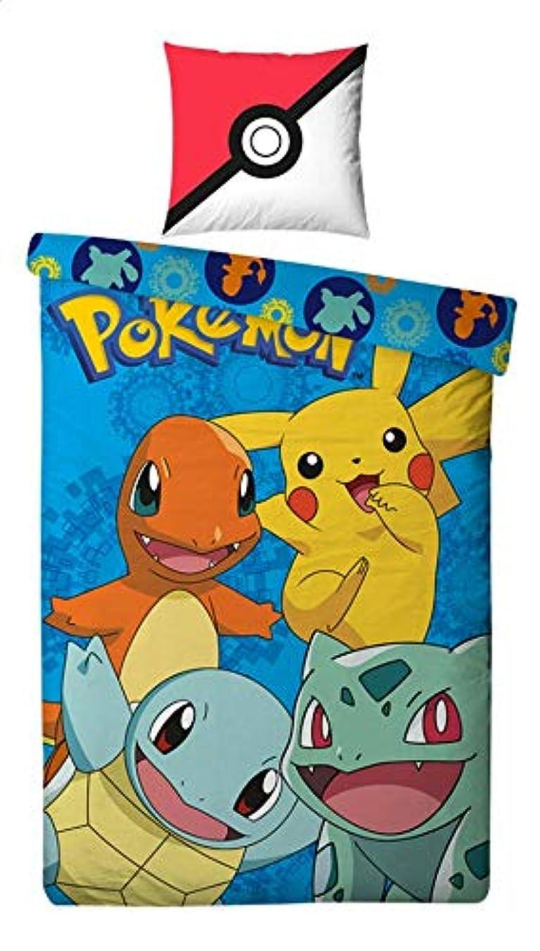 品種上記の頭と肩ドラム4540 ポケモン Pokemon シングル 布団カバー+枕カバーセット [並行輸入品]