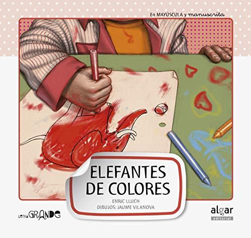 Elefantes de colores: 6 (Letra grande)