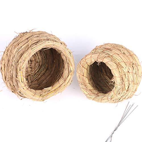 hsy Home Bird House Hängender Nistkasten Garden Bird Hotel Cabin-Wildvogel Nistkasten für den Garten Lifestyle-Zubehör Handgemachte Birdhouse Bird Hut Feeder für den Außenbereich Eisvogel Glas Holz