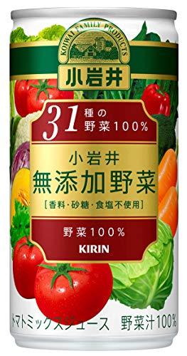 小岩井 無添加野菜 31種の野菜100% 190g×60本 缶