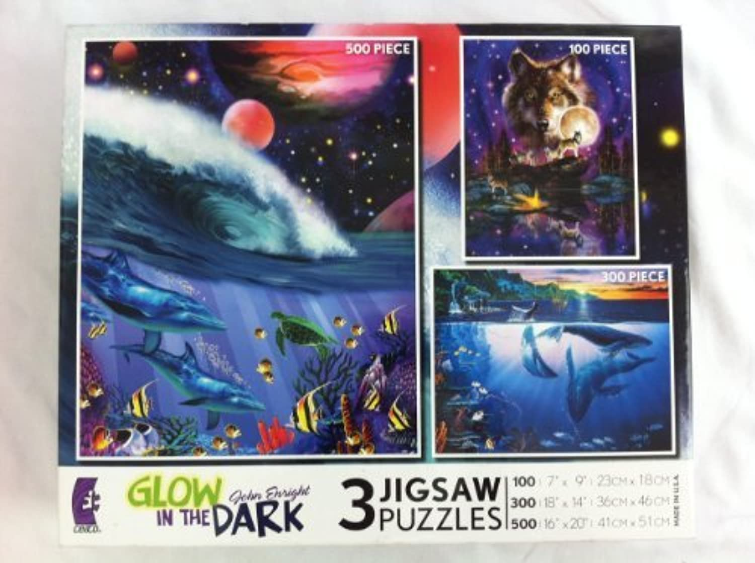 John Enright Glow in the Dark 3 Jigsaw Puzzles by Ceaco by Ceaco