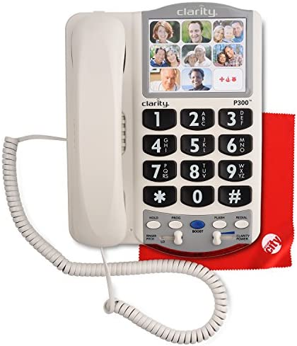 Clarity P300 Picture ID Mild Hearing Loss Amplified Corded Phone with Circuit City Microfiber product image