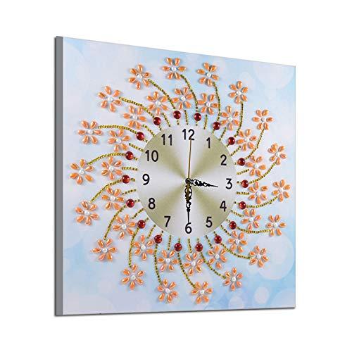 YANFANG Pintura De Reloj DecoracióN Kits Diamante 5D Pared Arte del Arte, Bricolaje 35X35 Cm Rubik Cubo La Sala Estar Bordado En Forma Cuadrado Conjuntos Sin Terminar Decorativo