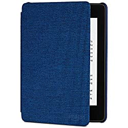 top 10 paperwhite leather cover Kindle Paperwhite Watersafe Fabric Cover (10th Generation-2018) Marine Blue