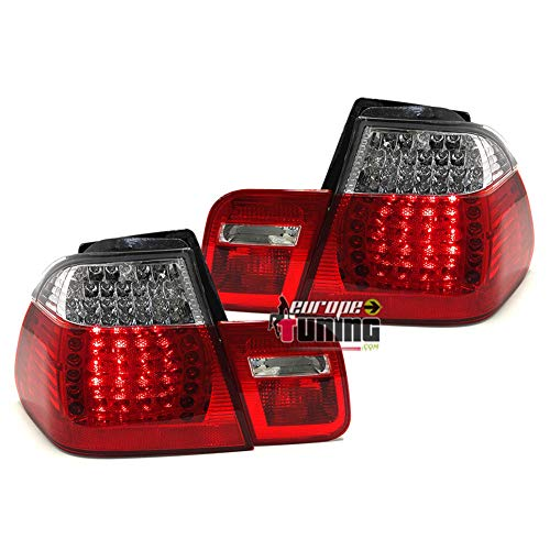 europetuning - 10340-2 FEUX ROUGES CRISTAL LOOK M3 A LEDS SERIE 3 E46 BERLINE 2001-2005 PHASE 2