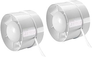 B Blesiya 2X Ventilador De Escape De Refuerzo De Conducto En Línea - (6