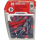 Milwaukee 48-32-4604#2 Phillips Shockwave Insert Bit Contractor (25-Pack)