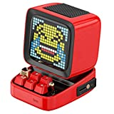 Divoom Retro Pixel Art Bluetooth Speaker with App Controlled Create Pixel animation Display(Red)