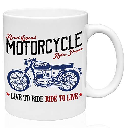 Bultaco mercurio 155 road legend motorcycle 11oz Taza de café de cerámica de alta calidad