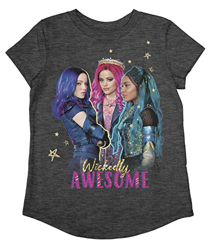 Jumping Beans Girls 4-12 Descendants Wickedly Awesome SS Tee 4 Grey
