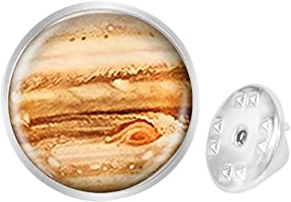 Pinback Buttons Badges Pins Jupiter Panoramic View Lapel Pin Brooch Clip Trendy Accessory Jacket T-Shirt Bag Hat Shoe