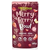 Smoothie Bowl: 100g Leckeres Merry Berry Beeren Porridge mit Erdbeeren, Himbeeren, Bio Acai, Bio Physalis uvm. – Superfood Smoothie Pulver – Glutenfrei, vegan – Beeren Müsli Mischung von NutriPur