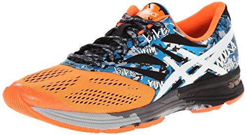 Zapatillas de running Gel-Noosa Tri 10 para hombre, Onyx / Blanco / Naranja s¨²per, 8 M US