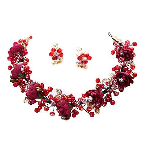 Amorar Frauen Fascinator Hair Clip Hut Bankett Hut Stirnband Feder Blume Schleier Bowler Braut Hut für Cocktail Hochzeit,EINWEG Verpackung