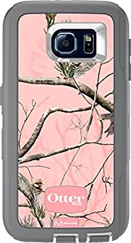 OtterBox DEFENDER SERIES for Samsung Galaxy S6 - Retail Packaging - AP Pink  White/Gunmetal Grey with Pink AP Camo
