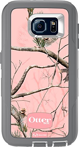 OtterBox DEFENDER SERIES for Samsung Galaxy S6 - Retail Packaging - AP Pink (White/Gunmetal Grey with Pink AP Camo)