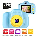VATENIC Kids Camera Children Digital Cameras Toys 1080P 2.0' HD Toddler Video Recorder Great Birthday Gifts for Kids Gifts for 3-10 Year Old Boys Girls with 32GB SD Card (Blue)